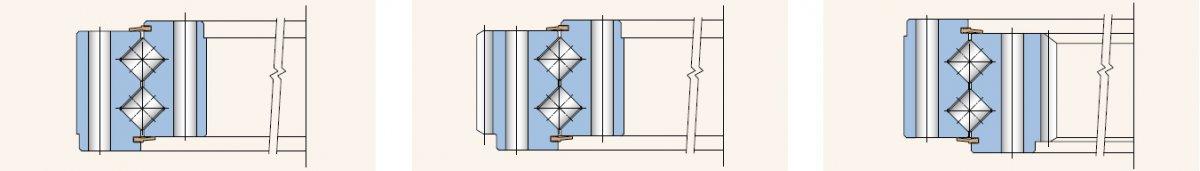 اسلوبیرینگ کراس رولر دو ردیفه مدل 2Z (double-row crossed roller slewing rings – design type 2Z)