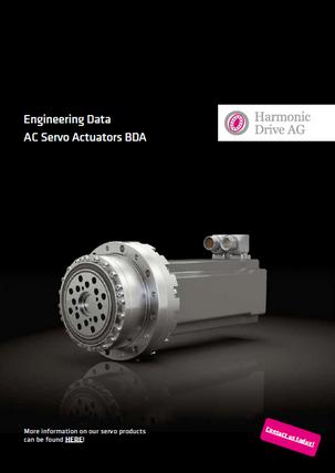 BDA Servo Actuator without hollow shaft
